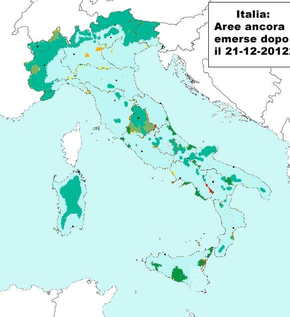 Mappa Italia dopo 21 dicembre 2012